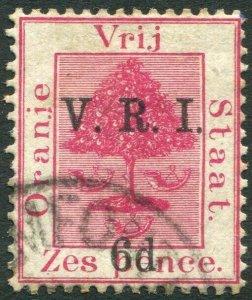 ORANGE FREE STATE-1900 6d on 6d Bright Carmine Sg 108 FINE USED  V33113
