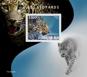 TOGO - 2019 - Leopards - Perf Souv Sheet - MNH