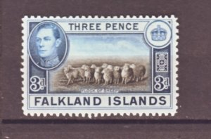 J22344 Jlstamps 1938-46 falkland islands part of set mh #87a sheep