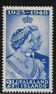 FALKLAND ISLANDS, 99, MINT HINGED, ROYAL ISSUE