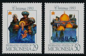 Micronesia 184-5 MNH Christmas,  Architecture, Three Kings