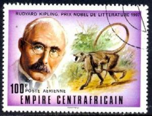 Nobel Prize Winner, Rudyard Kipling, C. African SC#C180 used