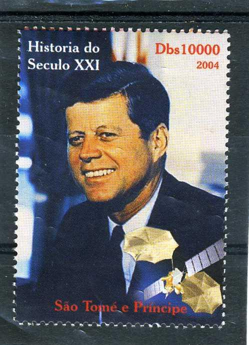 SAO TOME & PRINCIPE 2004 JF.Kennedy Space Satellite 1 value Perforated mnh.vf