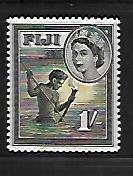 FIJI, 156, MINT HINGED, SPEAR FISHING AT NIGHT