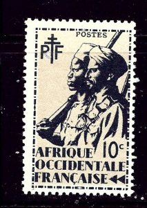 French West Africa 17 MH 1945 issue