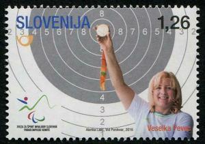 HERRICKSTAMP NEW ISSUES SLOVENIA Sc.# 1208 Rio 2016 Paralympic Medal Winner