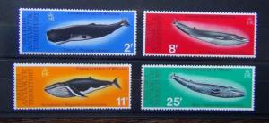 British Antarctic Territory 1977 Whales Conservation set MNH