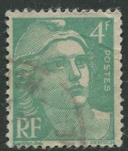 France - Scott 596 - General Definitive Issue -1948 - Used - Single 4fr Stamp