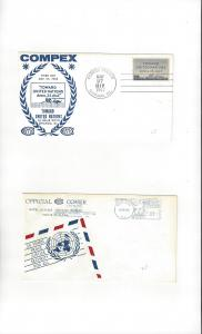 United Nations COMPEX 1962 & 1965 Show Cachets