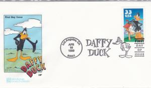 United States 1999 Daffy Duck HF Color Cachet First Day Cover VF