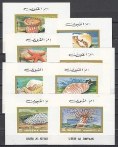 Umm Al Qiwain, Mi cat. 682-689 C. Marine Life values as Deluxe s/sheets.