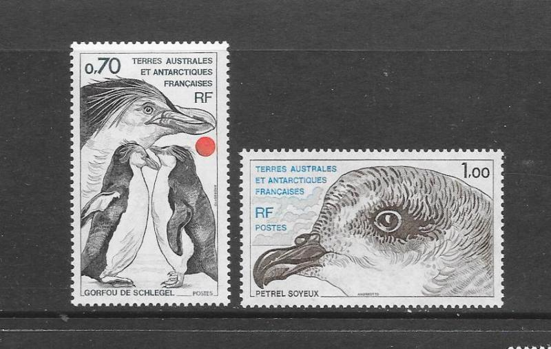 BIRDS  - FRENCH SOUTHERN ANTARCTIC TERRITORIES #82-3   MNH