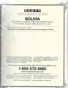 Scott Bolivia #16 Supplement 2010