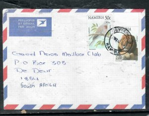NAMIBIA COVER (P3006B) 2.0 N$ LION+ 50C BIRD A/M COVER TO SOUTH AFRICA