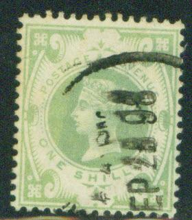 Great Britain Scott 122, Victoria 1 Shilling 1887 CV$70