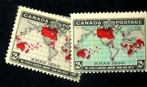 CANADA #85-6 MINT F-VF OG HR Cat $85