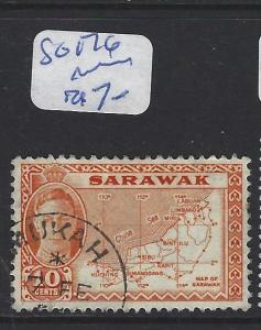 SARAWAK (P1309B)  KGVI 10C MAP SG 176  MUKAH   VFU