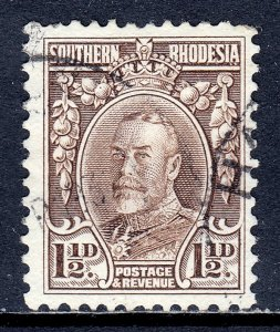 Southern Rhodesia - Scott #18b - P12 - Used - Short perf at top - SCV $47