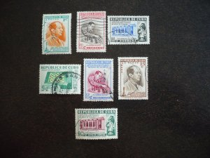 Stamps - Cuba - Scott# 463-465,C44-C46,E14 - Used Set of 7 Stamps