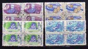 North Vietnam 385-388 Blocks of 4 Set U Space