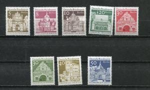 Germany Berlin 1966 Mi 270-7 MNH Buildings 7042