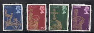 Great Britain Sc 835-8 1978 25th Anniversary Coronation QE II stamp set mint NH