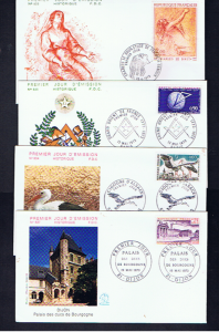 FRANCE 1973 FIRST DAY COVERS