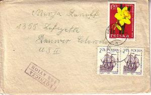 Poland, Airmail, Ships, Flowers