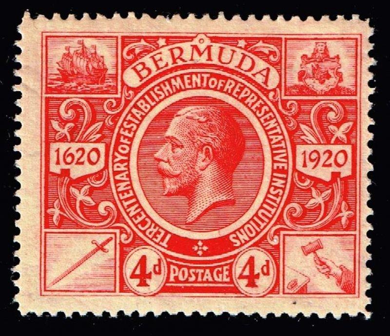 UK STAMP BERMUDA 1910 -1925 Caravel 4P MH/OG STAMP $13