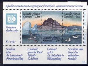 Greenland 175 MNH Birds, Mountain, Ship, HAFNIA