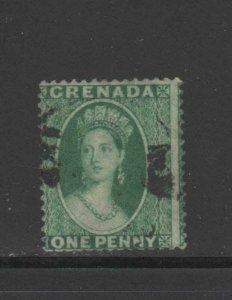 GRENADA #7A  1875  1p  QUEEN VICTORIA     F-VF  USED
