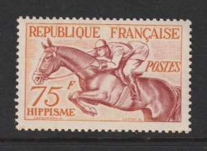 France a 75Fr MNH from the 1953 Sports set