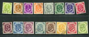 Germany 1951 Mi 123-138 Used CV 50 euro 7035