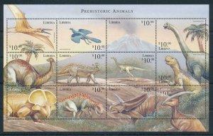 [107158] Liberia 1999 Prehistoric animals dinosaurs Sheet MNH