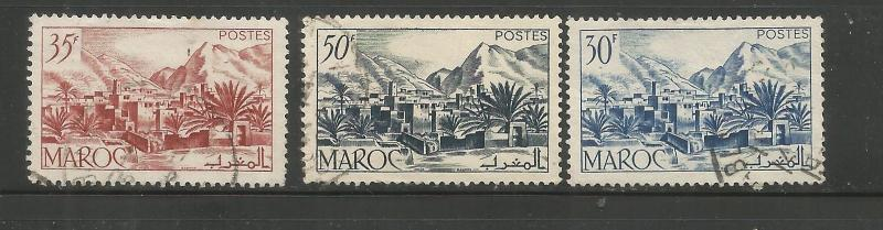 -FRENCH MOROCCO, 259-260,270 USED, TODRA VALLEY