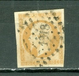 FRANCE 1854 NAPOLEON #14 TYPE 1... VERY FINE USED NO THINS