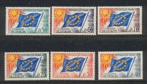 EUROPA by FRANCE Hinged Sc 1o 10-15 Value $ 13.20