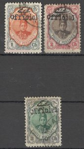 COLLECTION LOT OF # 1719 IRAN # 501-3 1911 CV=$24
