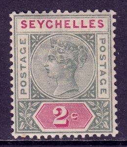 Seychelles - Scott #1 - MNH - Minor ink offset/rev., toning spot - SCV $3.50