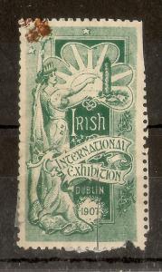 Ireland 1907 Dublin Exhibition Label