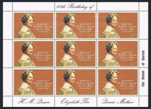 Samoa 532 sheet,MNH.Michel 434 klb. Queen Mother Elizabeth 80 Birthday,1980.