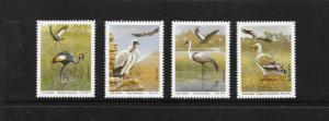 BIRDS - SOUTH AFRICA-TRANSKEI #255-258  MNH