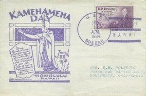 KAMEHAMEHA DAY HAWAII 1934 - U.S.S. Breese DD-122
