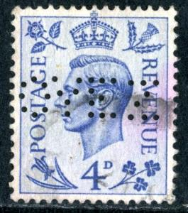 GREAT BRITAIN - SC #241 - USED PERFIN - 1938 - Item GB102NS3