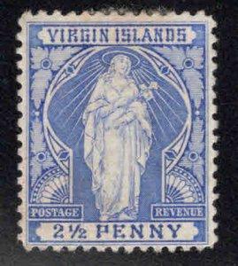 Virgin Islands  Scott 23 MH* Saint Ursula stamp hinge remnant CV$13