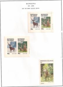 SCOTLAND - BERNERA - 1981 - Deer - 2v Perf & Imperf Sheets - MLH