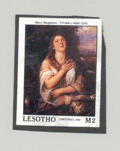 Lesotho #691 Art, Titian 1v Imperf Proof on Black Construction Paper