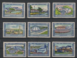 USA - 1939 New York World's Fair Lot  of 9 MH Stamps Assortment 1