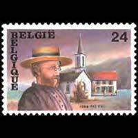 BELGIUM 1989 - Scott# 1330 Missionary Damien Set of 1 NH
