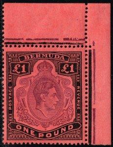 Bermuda SG #121b King George VI; MNH (4Stars)